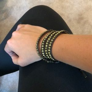 Gold and brown bracelet